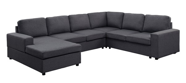 Lilola Home Warren Dark Gray Sectional with Reversible Chaise LILO-81801-4