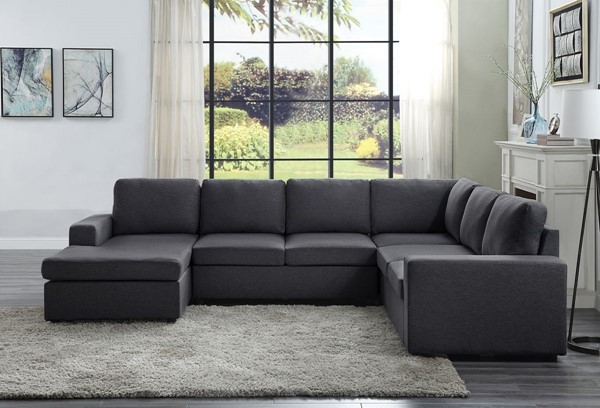 Lilola Home Warren Sectionals with Reversible Chaise LILO-8180-4-SEC-VAR