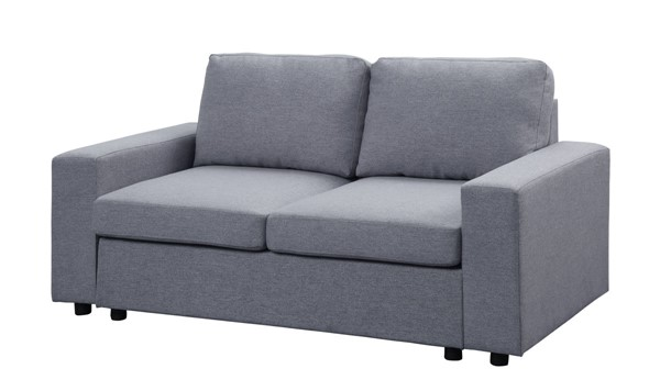Lilola Home Brenton Light Gray Linen Loveseat LILO-81802-9