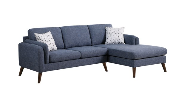 Lilola Home Founders Blue Fabric Sectional LILO-87804