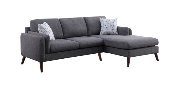 Lilola Home Founders Light Gray Fabric Sectional LILO-87805