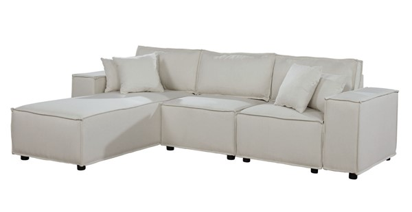 Lilola Home Harvey Beige Sofa with Reversible Chaise LILO-89116-1