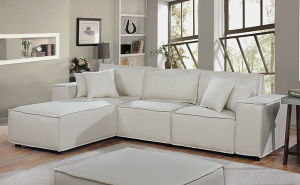 Lilola Home Harvey Sofa with Reversible Chaises LILO-8911-1-SEC-VAR