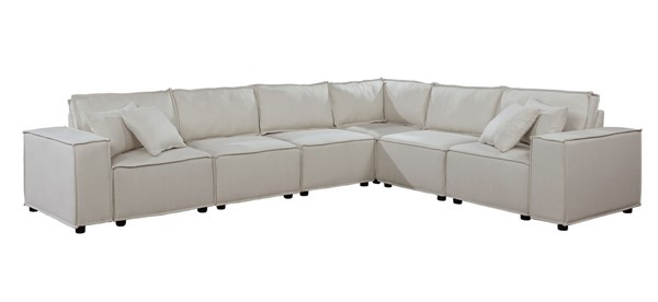 Lilola Home Janelle Beige Sectional LILO-89116-3