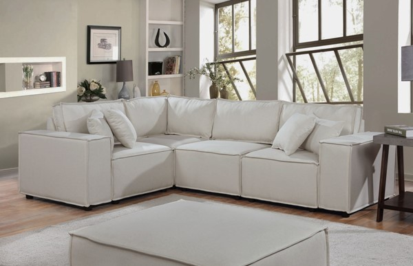 Lilola Home Melrose Sectional with Ottomans LILO-8911-4-SEC-VAR