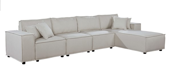 Lilola Home Ermont Beige Sofa with Reversible Chaise LILO-89116-5