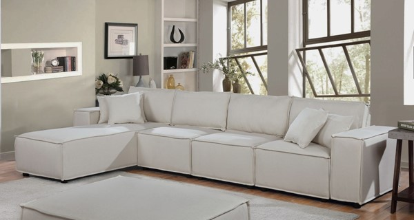 Lilola Home Ermont Sofa with Reversible Chaises LILO-8911-5-SEC-VAR