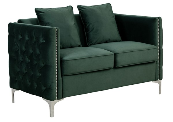 Lilola Home Bayberry Green Loveseat With Pillow LILO-89634GN-L