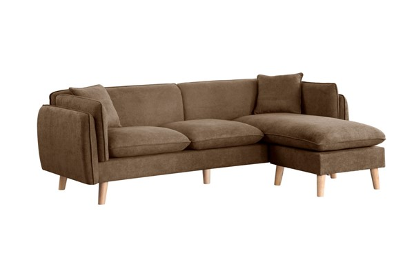 Lilola Home Brayden Brown Fabric Sectional LILO-89642