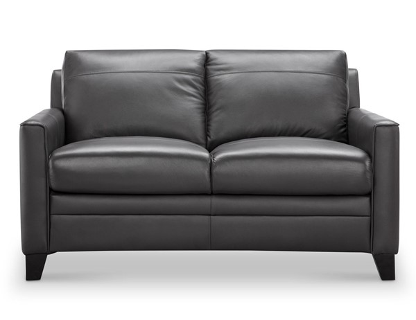 Leather Italy Cambria Fletcher Charcoal Loveseat LIU-1444-6287B-021128A