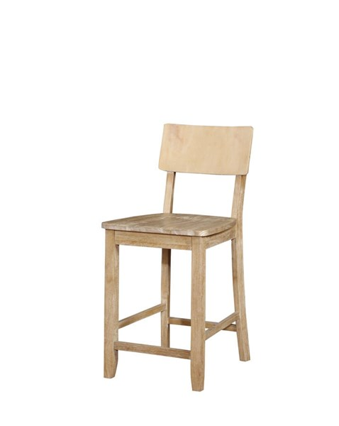 Jordan Natural Solid Wood Counter Stool LN-017101NAT01U