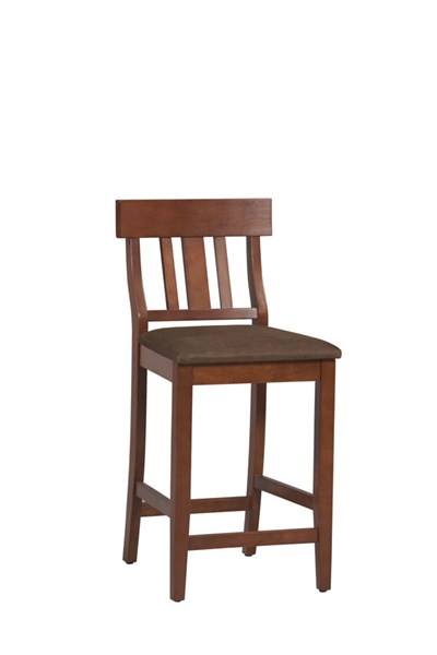 Linon Torino Brown Slat Back Counter Stool The Classy Home
