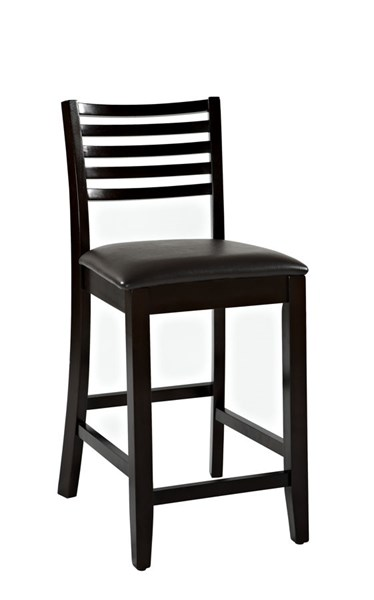 Triena Traditional Dark Brown Wood PVC Stool LN-01863-ESP-01-KD-U-VAR