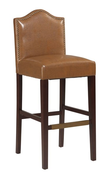 Manor Traditional Russet PU Rubberwood MDF Bar Stool LN-022604RUS01U
