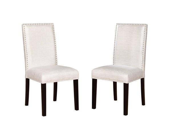 2 Stewart Black Hardwood Fabric Nailheads Glitz Dining Chairs LN-022627GLZ02U