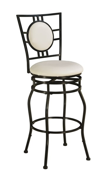 Townsend Modern White PU Black Metal Adjustable Stool LN-03282MTL-01-KD-U