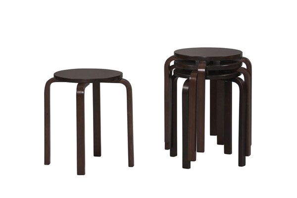 Wenge Bentwood Birch 17 Inch Stool LN-1771WENG-04-AS-U