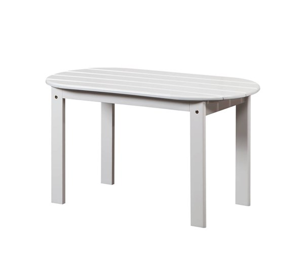Adirondack White Solid Wood Outdoor Coffee Table LN-20154WHT-01-KD-U