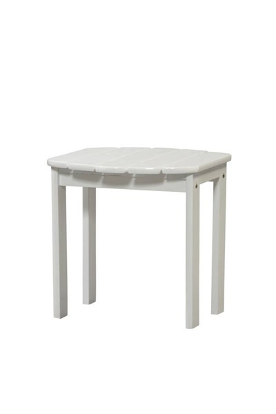 Adirondack White Solid Wood Outdoor End Table LN-20155WHT-01-KD-U