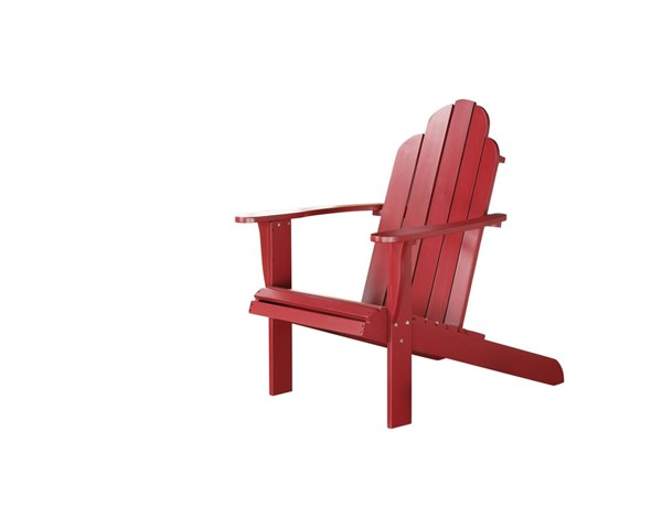 Adirondack Classic Red Solid Wood Outdoor Chair LN-21150RED-01-KD-U