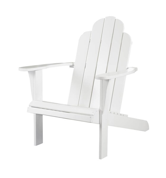 Adirondack Classic White Solid Wood Outdoor Chair LN-21150WHT-01-KD-U