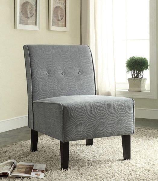 Classic Wood Fabric 18 Inch Seat Height Accent Chairs LN-36096-01-KD-U-VAR