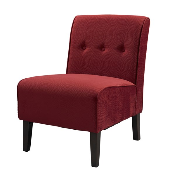 Modern Red Fabric Walnut Hardwoods Accent Chair LN-36096RED-01-KD-U