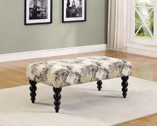 Claire Wood Fabric Benches W/17 Inch Seat Height LN-36110-01-KD-U-VAR