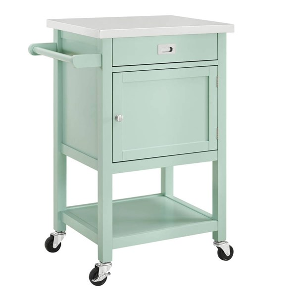 Sydney Wood Stainless Steel Caster Apartment Carts LN-464918-KC-VAR