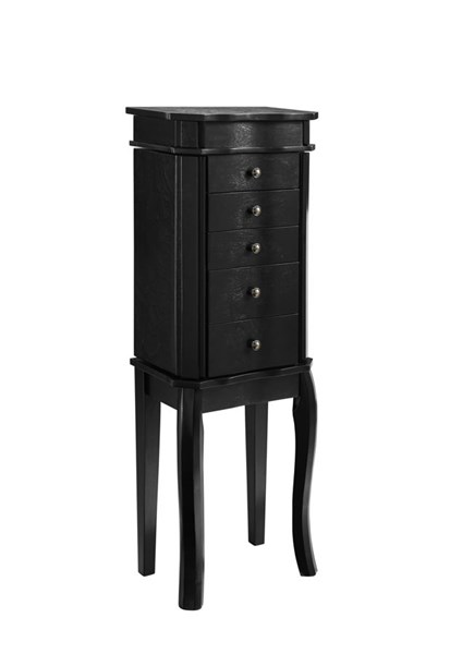Paige Contemporary Black MDF Jewelry Armoire LN-55561BLK-01-KD-U