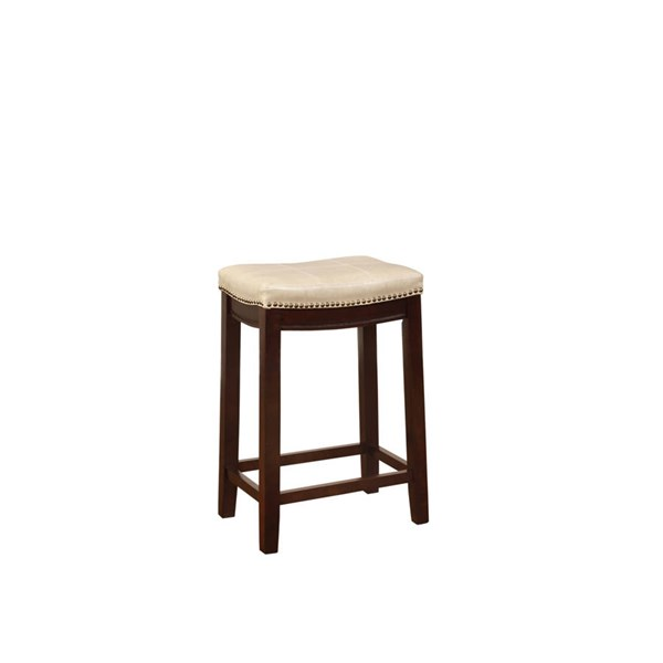 Claridge Jute Dark Brown Solid Wood CA Foam PU Counter Stool LN-55815JUTE01U