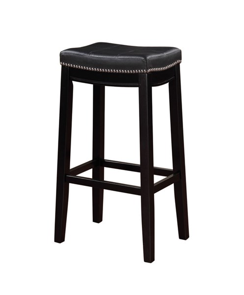 Claridge Black PU Solid Wood 30 Inch Bar Stool LN-55816BLK01U