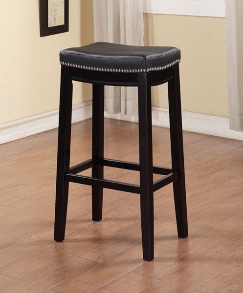 Claridge Wood Fabric PU Nailheads Bar Stools LN-55816-01U-VAR