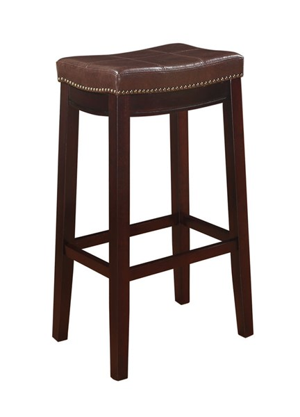 30 Inch Brown Bathroom Vanity Set With White Carrera: Claridge Brown Fabric Solid Wood 30 Inch Bar Stool