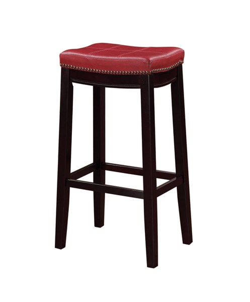 Claridge Red PU Espresso Solid Wood 30 Inch Bar Stool LN-55816RED01U