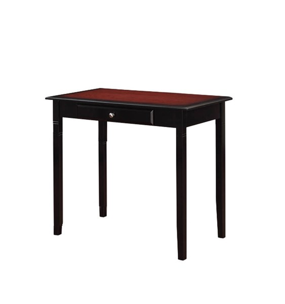 Camden Transitional Black Cherry Hardwoods MDF Desk LN-64030BLKCHY01KDU
