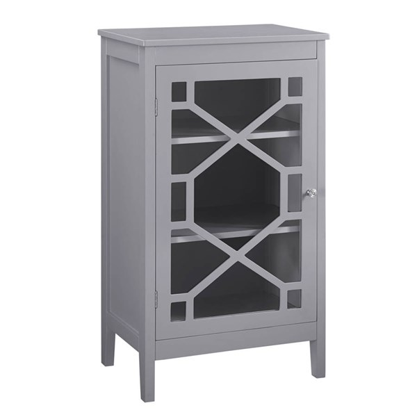 Fetti Gray MDF Tempered Glass Small Cabinet LN-650211GRY01U