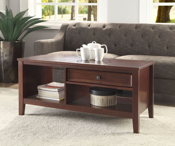 Wander Cherry Pine MDF Coffee Table Set LN-7700CHY01U-OCT