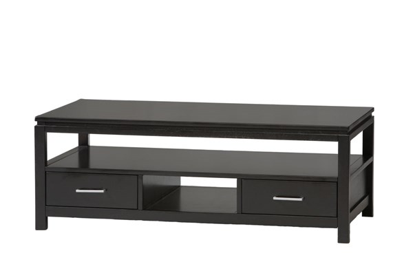 Sutton Contemporary Black Rubberwood MDF Coffee Table LN-84027BLK-01-KD-U