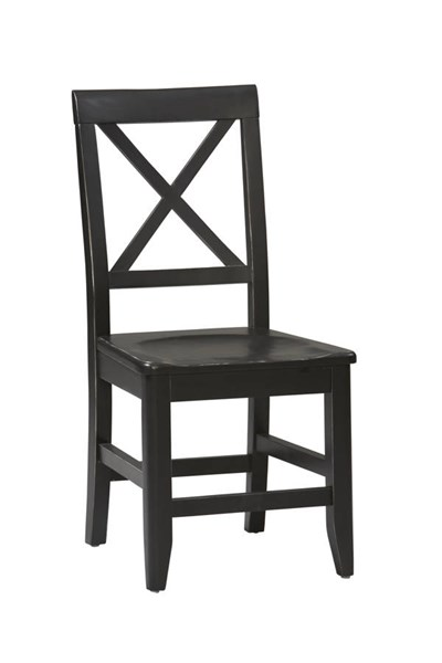 Anna Contemporary Black Solid Pine Dining Chair LN-86100C124-01-KD-U