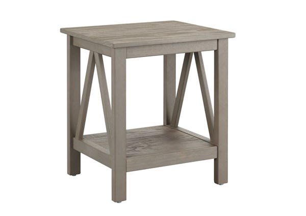 Titian Rustic Gray Pine End Table LN-86153GRY01U