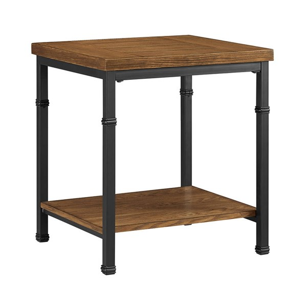 Austin Black Ash MDF Particle Board Metal End Table LN-862254ASH01U