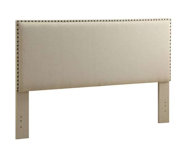 Contempo Classic Natural Fabric MDF Foam King Headboard LN-881001NAT01U