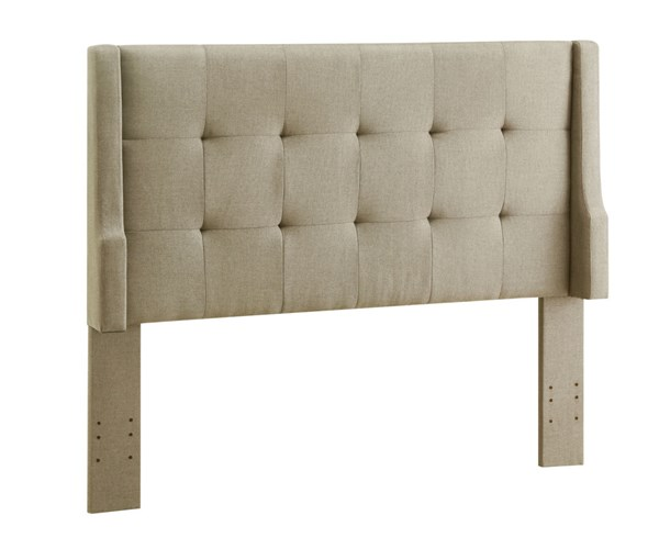 Luxe Classic Natural Fabric Foam MDF Full/Queen Headboard LN-881015NAT01U