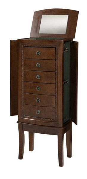 Molly Traditional Green MDF Jewelry Armoire LN-95006CHY-01-KD-U