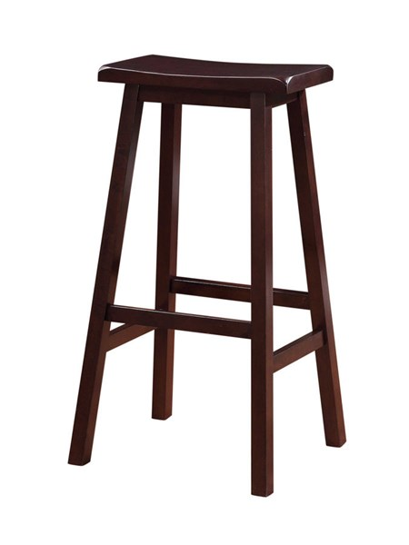 Classic Dark Brown Rubberwood 29 Inch Stool LN-98442DKBRN01