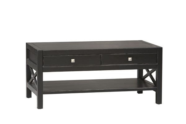 Anna Traditional Antique Black MDF Coffee Table LN-K86108C124