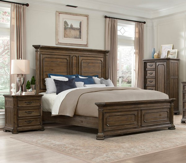 Lane Furniture Casa Grande Hickory 2pc Bedroom Set with Queen Panel Bed LNF-1050-50-BR-S1