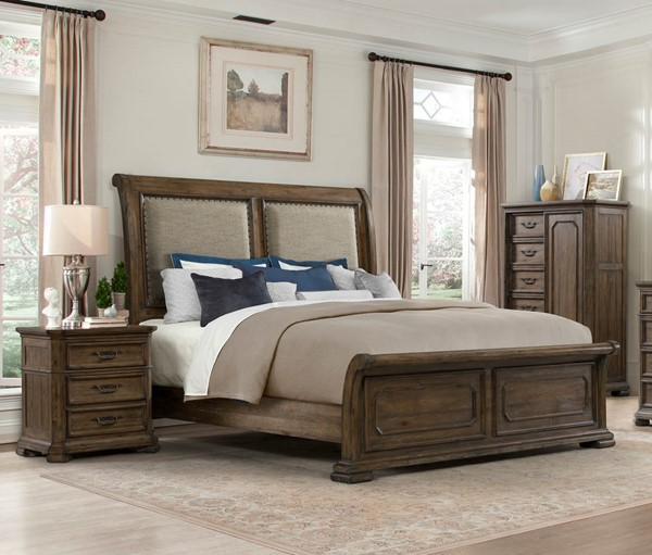 Lane Furniture Casa Grande Hickory 2pc Bedroom Set with Queen Sleigh Bed LNF-1050-73-BR-S1