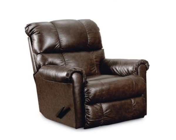 Eureka Leather Pad Over Chaise Rocker Recliner LNF-11716P-5101-20